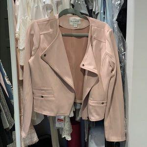 Fashion Nova Suede Jacket in Blush Pink